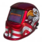 Best Digital Elite Welding Helmet in Glossy Red Color with White Eagle Graphic