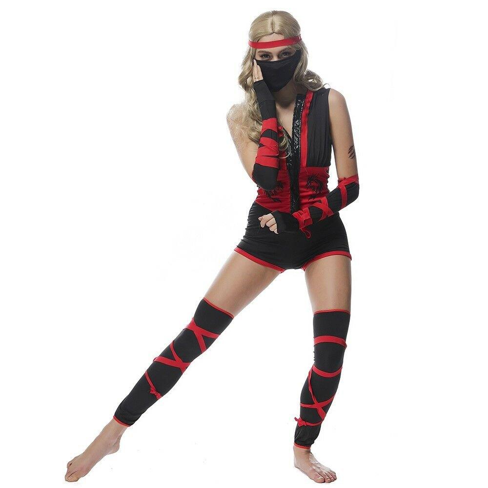 Halloween Costume Black Cosplay DS Bar Ninja