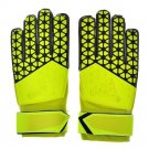 Latex Goalkeeper Gloves Roll Finger   yellow  8