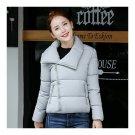 Winter Short Down Coat Woman Thick Warm Fashionable   grey
