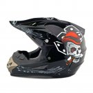 Motorcycle Motor Bike Scooter Safety Helmet bright black skull