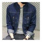 Jeans Denim Jacket Top Coat Stand Collar