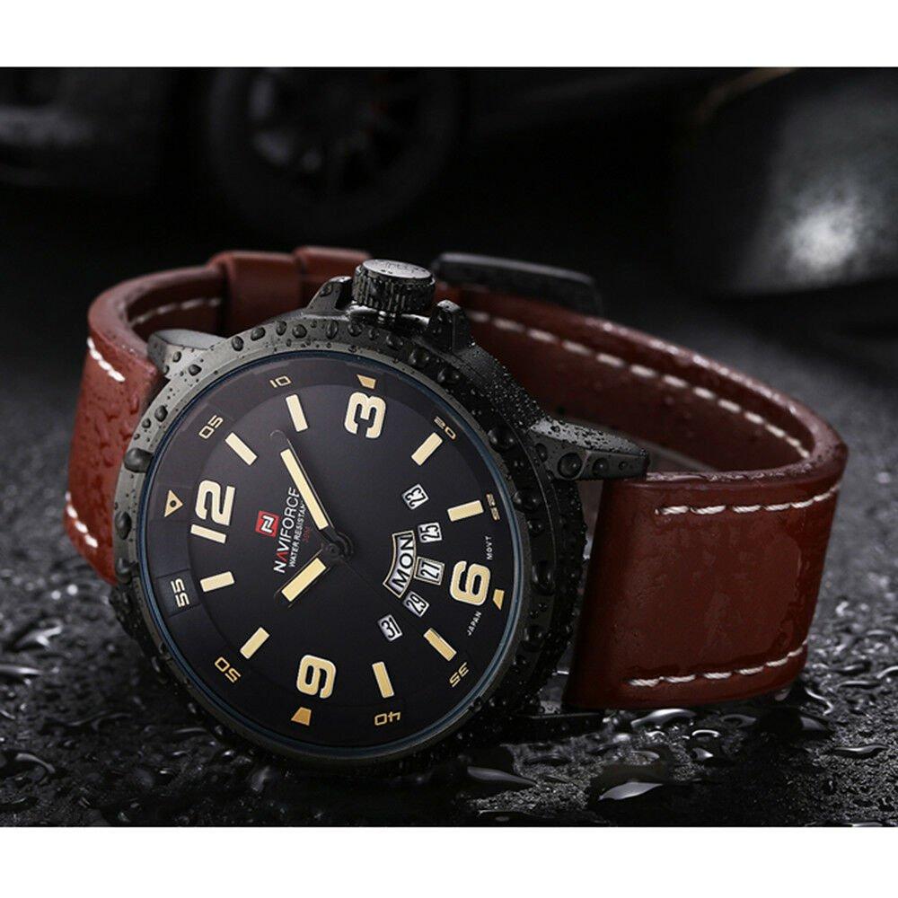 NAVIFORCE Men Quarz Watch Digital LED Wristwatch Calendar