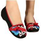 Casual Old Beijing Cloth Embroidered Shoes   black