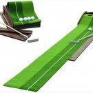 Indoor Outdoor Golf Putting Trainer Portable Golf Practice Putting Mat Putter
