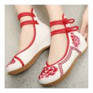 Old Beijing Cloth Embroidered Shoes Slipsole  red