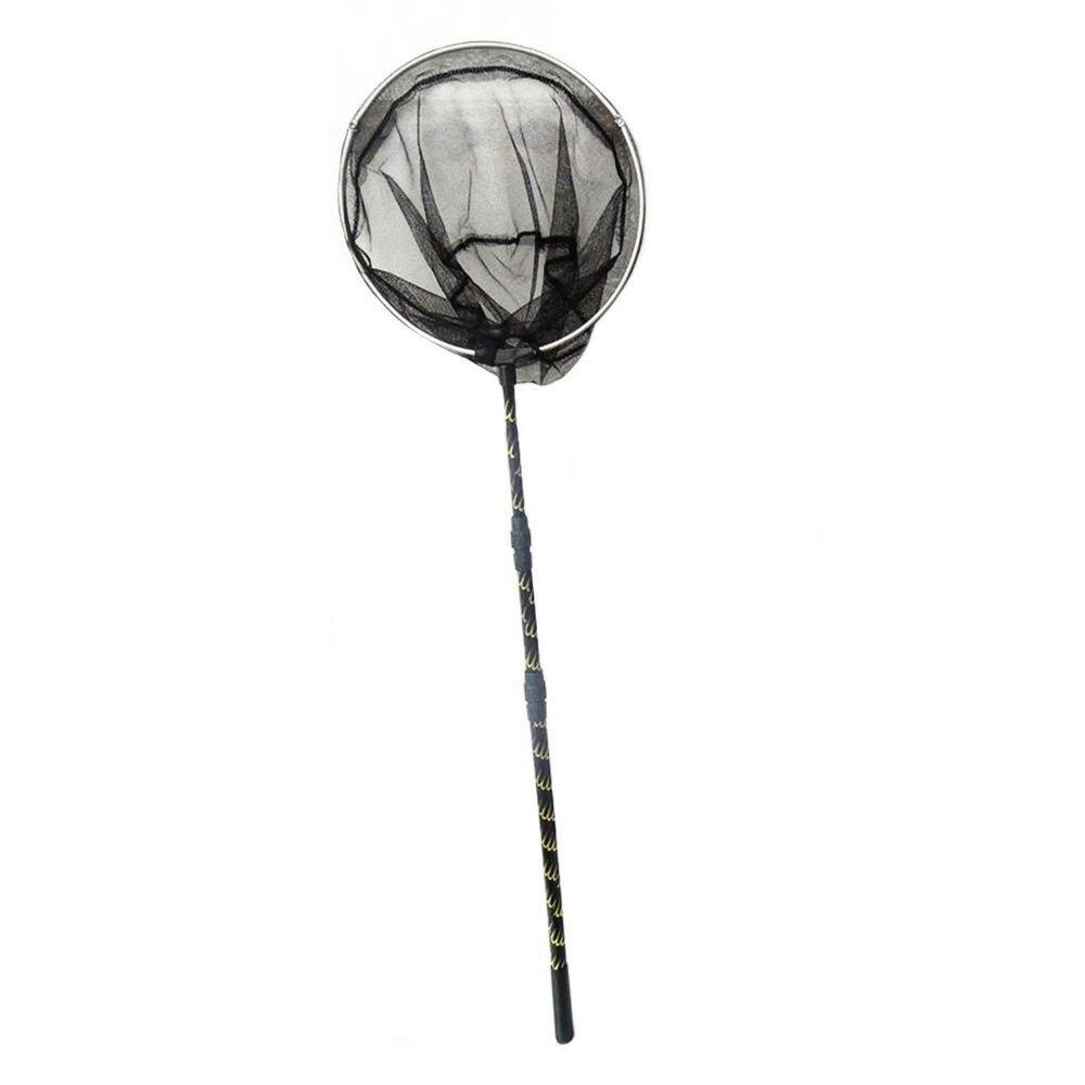 Aluminum Fishing Net  Dipnet Brail Net FLOWER ROD SIZE 2.1M HEAD ROUND