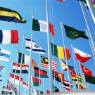 160 * 240 cm National flag Various countries in the world Polyester banner flag
