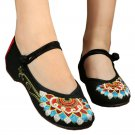 Old Beijing Cloth Embroidered Shoes Flat Casual Chromatic flowers Dancing ballet