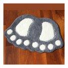 Cute Flocked Foot Door Non-slip Mat   grey   48*67cm