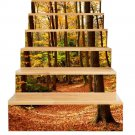 New 3D DIY PVC Waterproof  Stair Decals Wall  Floor Sticker  Forest QS021