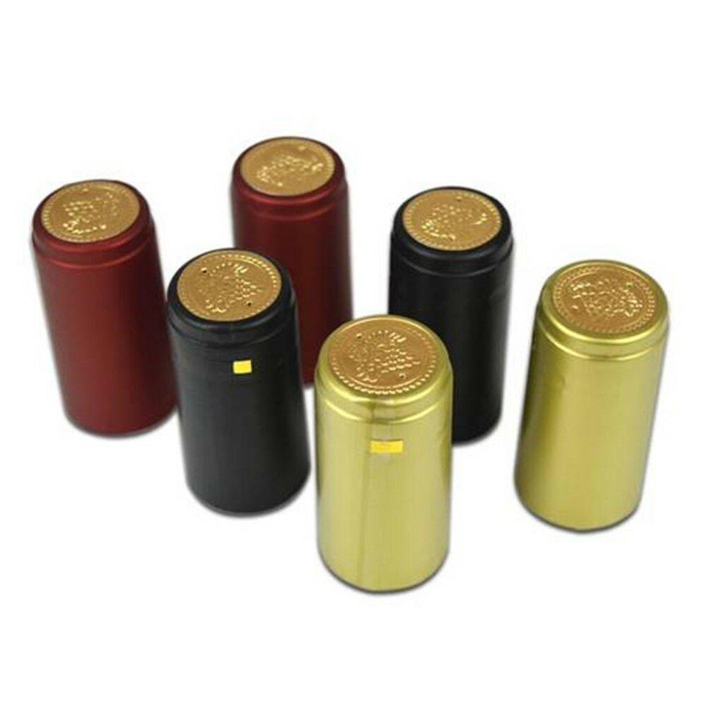50Pcs 30mm PVC Tear Tape Wine Bottle Heat Shrink Cap Sealing Cover