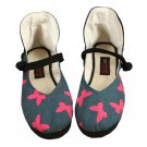 Old Beijing Cloth Embroidered Shoes Strong Cloth Soles Poeny