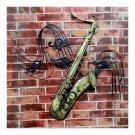 America Vintage Instrument Iron Wall Hanging Decoration   saxophone