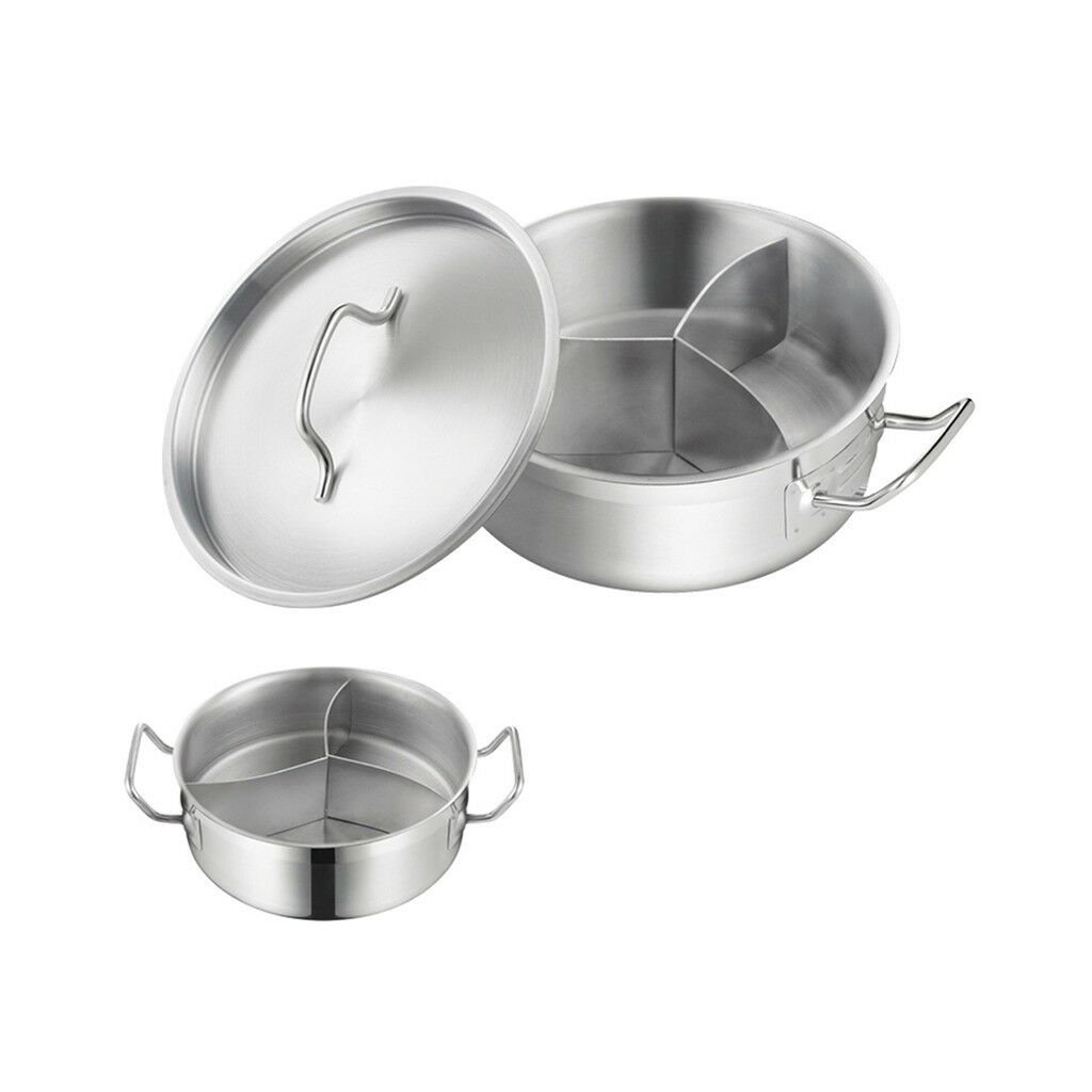 Stainless steel Three-flavor Hot Pot with Sandwich Bottom (03 style)   180*85