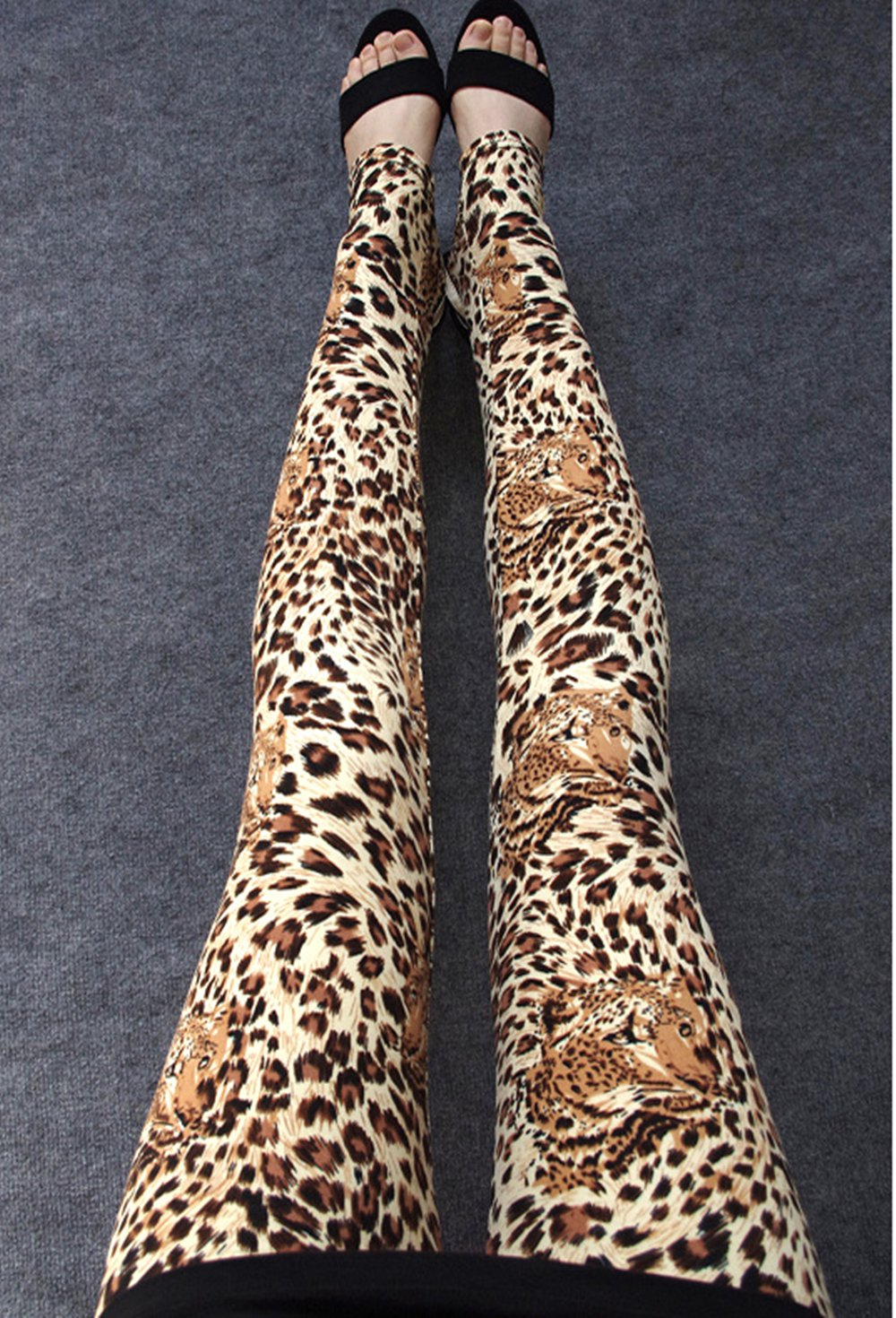 Womens Sexy Leopard Printing Leggings Stretchy Fit Fashion Skin Pants Trousers