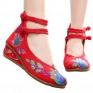 Peacock Old Beijing Cloth Shoes  red