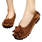 Suede Gommino Causal Women Thin Shoes  golden camel