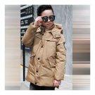 Winter Thick Down Coat Boy Warm Children Garments   khaki