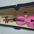 Student Acoustic Violin Size 1/8 Maple Spruce with Case Bow Rosin Pink Color