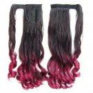 Magic Tape Gradient Ramp Horsetail Wig Curled