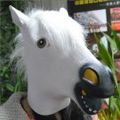 Horse Head Mask Rubber Latex Animal Costume Full head Mask Halloween Costume Fan