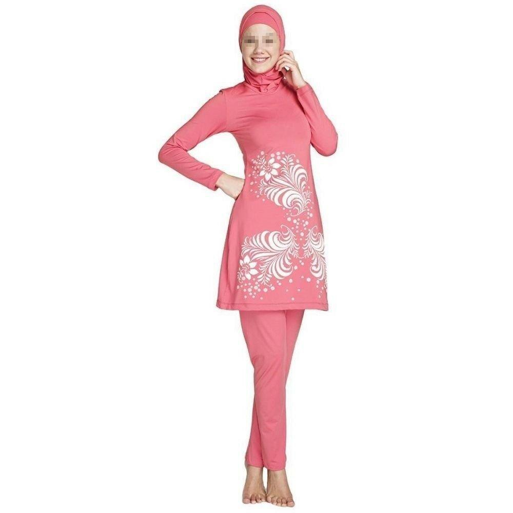 Muslim Swimwear Swimsuit Beach Burqini   pink Burqini