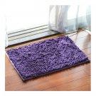 Chenille Carpet Non-slip Ground Door Mat    lavender purple   40*60cm