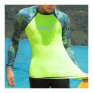Diving Suit Wetsuit Fishing Surfing   camouflage+fluorescent green