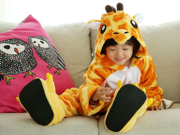 Kids Cute Cartoon Sleepwear Pajamas Cosplay Costume Animal One-piece Fancy 07
