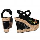 High Heel Peep-toe Embroidered Sandals Shoes