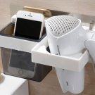 Hair Dryer Holder Hair Brushes Combs Storage Rack wall mounted bathroom