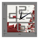 Living Room Wall Clock Decoration Digit Mirror Sticking