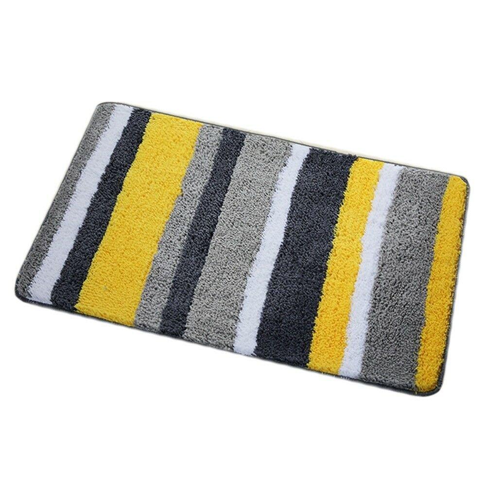 Flocking Ground Foot Non-slip Mat Carpet   feel life yellow  50*80cm