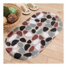 Simple Colorful Stone Carpet Ground Floor Foot Mat
