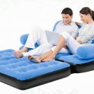 5 in 1 Velvet Inflatable Sofa Bed with Pump