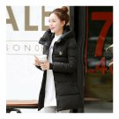 Super Long Down Coat Woman Thick Fashionable Thick   black