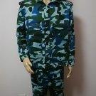 Tactical Combat Uniform Shirt Pant Camo Camouflage Uniform Suit Sets Blue L