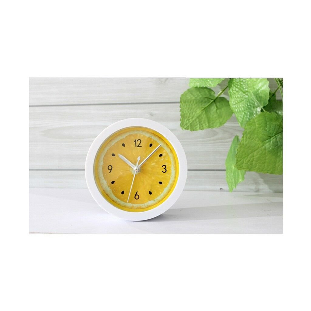 Lemon Alarm Clock Simple Desk Clock Table Clock Bedroom Study Lazy Clock  yellow