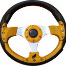 13in Alloy Auto Steering Wheel Racing sport Style yellow