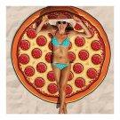 Chiffon Round Tassel Knitted Beach Towel Lantern Towel   pizza