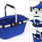 Foldable Shopping Picnic Basket with Handle Water-proof for Outdoor  4 Colors