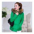 Winter Cotton Coat Slim Plus Size Thick Down Coat   emerald green