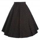 Polka Dot Bust Skirt A-line Skirt   black