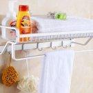 Wall Mounted Bathroom Shower Towel Rail Holder Storage Shelf Kitchen Caddy