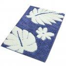 Fluff Door Ground Non-slip Mat Carpet  summer night blue    60*90cm