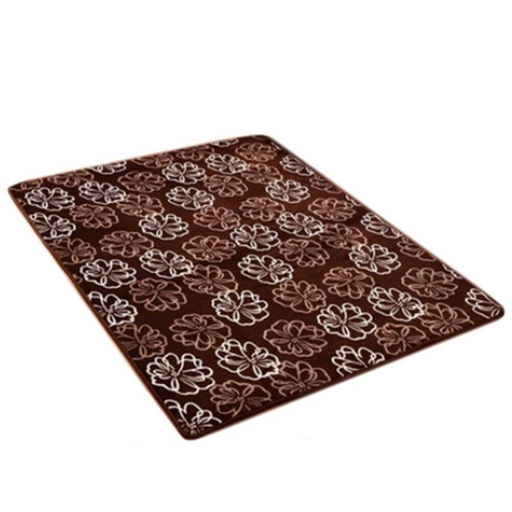 Carpet Coral Fleece Non-slip Door Mat   01  40*60cm