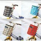 New Bike Bicycle Front Folded Handlebar Canvas Storage Basket Carrier