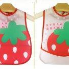 Cute Cartoon Bib Feeding Bibs Baby Bibs Saliva Towel Waterproof  Strawberry