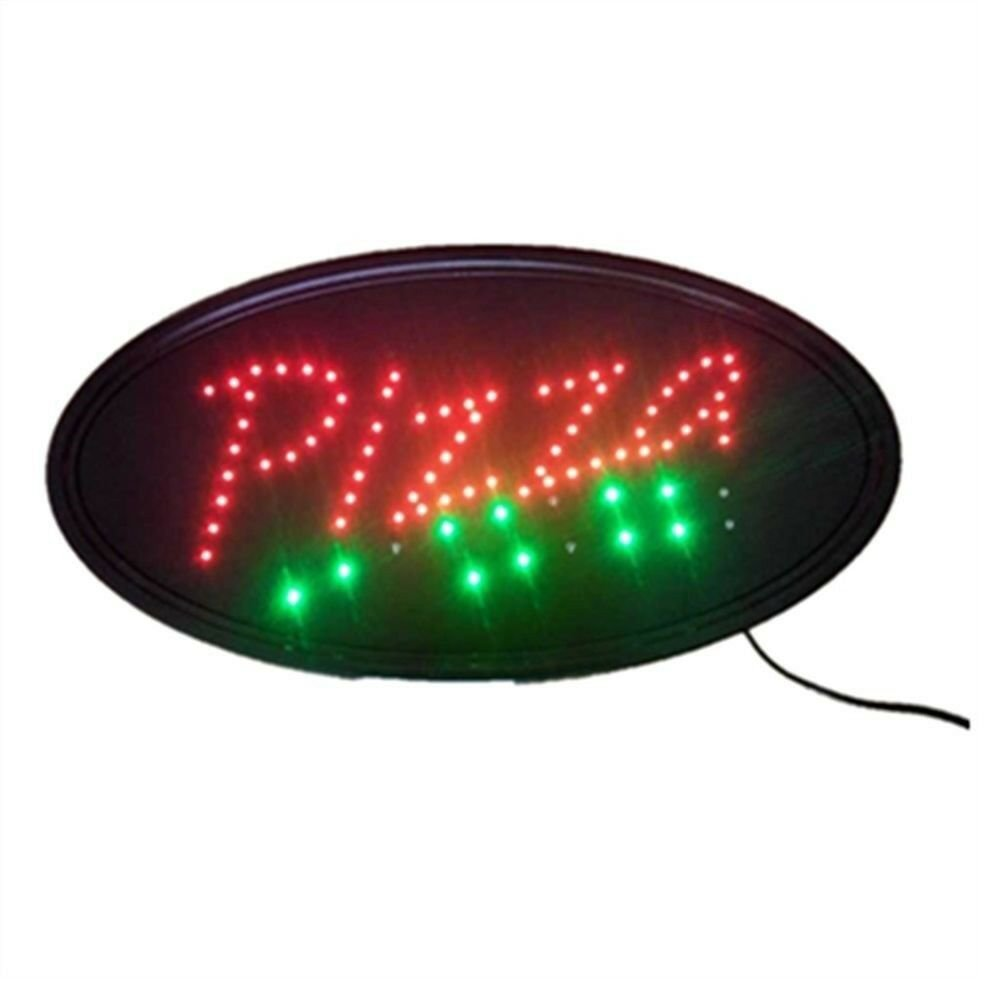 Neon Lights LED Animated Pizza Sign Customers Attractive Sign  Shop Sign 220V